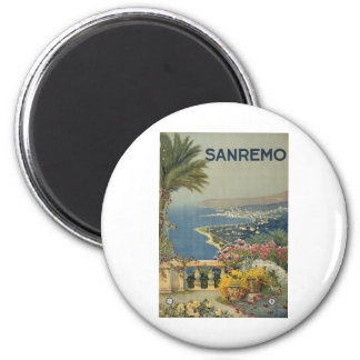 Sanremo poster 1920 2 inch round magnet