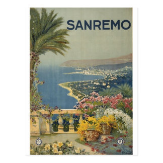Sanremo poster 1920 postcard