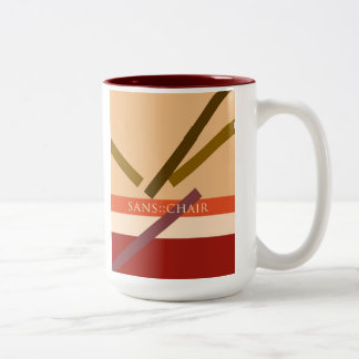 """Sans Chair"" Two-Tone Coffee Mug"