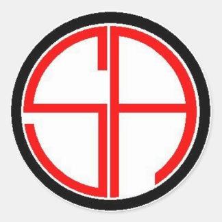 Sans Crosshairs Round Stickers