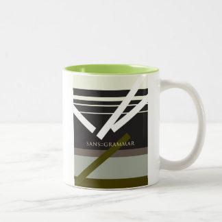 """Sans Grammar"" Two-Tone Coffee Mug"