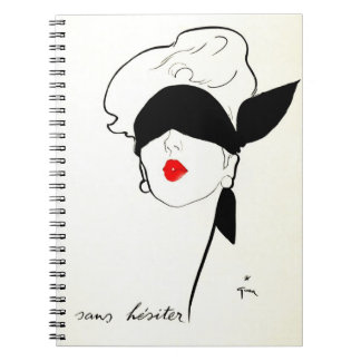 Sans Hesiter Vintage French Gruau Woman Notebook