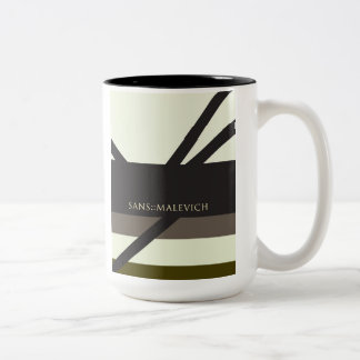 """Sans Malevich"" Two-Tone Coffee Mug"