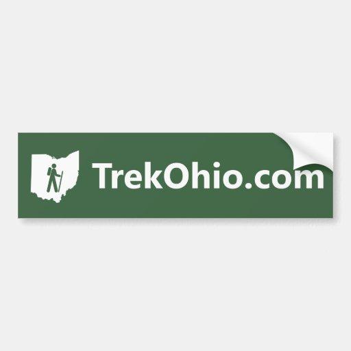 Sans-serif font, green background bumper sticker