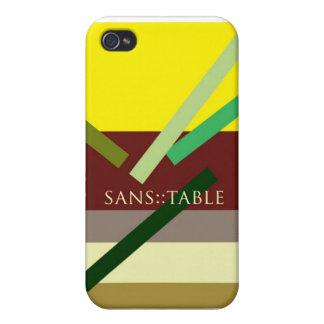 """""""Sans Table"""" iPhone 4/4S Case"""