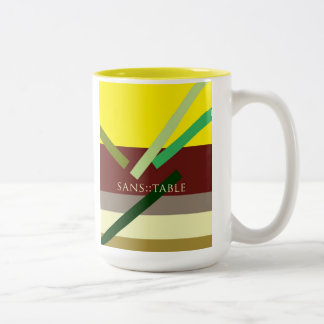 """Sans Table"" Two-Tone Coffee Mug"