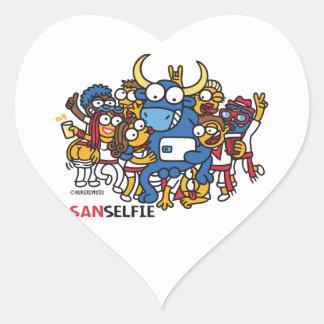Sanselfie Heart Sticker