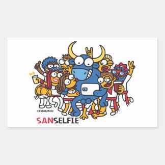 Sanselfie Rectangular Sticker