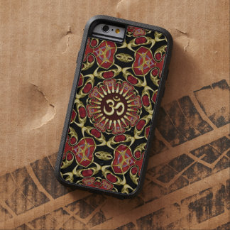 Sanskrit Om Gold + Red Baroque iPhone 6 Case