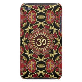 Sanskrit Om Gold + Red Baroque iPod Touch case