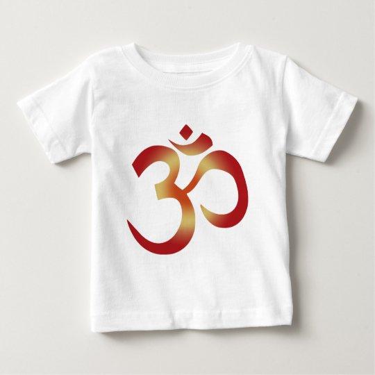 Sanskrit Om in Sunset Colors Baby T-Shirt