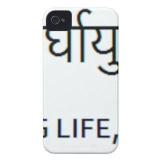 Sanskrit Tattoo, Peace, Long Life, Happiness iPhone 4 Case