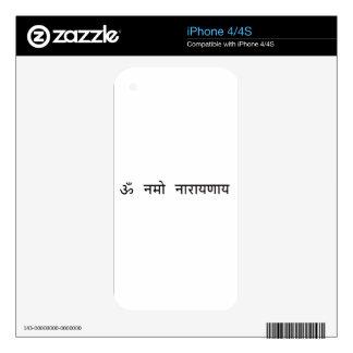 sanskrit : vishnu mantra,Om Namah Narayanaya Decals For The iPhone 4S