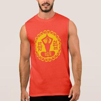 Sanskrit & Yin Yang Yoga Symbol Sleeveless T-shirts