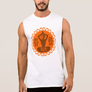 Sanskrit Yoga Symbol with Yin Yang Sleeveless Shirt