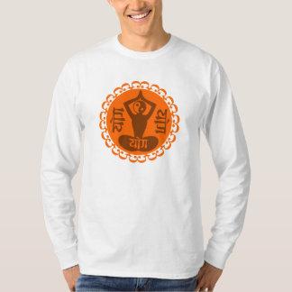 Sanskrit Yoga Symbol with Yin Yang T Shirt