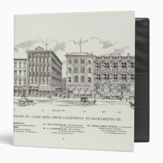 Sansome East side California and Sacramento 3 Ring Binder