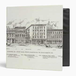 Sansome West side California and Sacramento Vinyl Binders