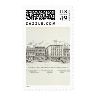 Sansome West side California and Sacramento Postage Stamps