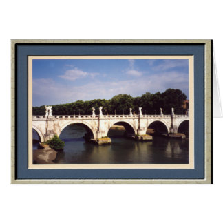 Sant Angelo Bridge in Rome Italy Greeting Cards