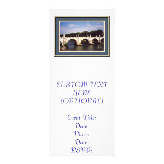 Sant Angelo Bridge in Rome Italy Personalized Announcements