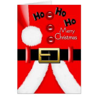 Sant Claus Suit - Merry Christmas Card