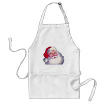 santa1 adult apron