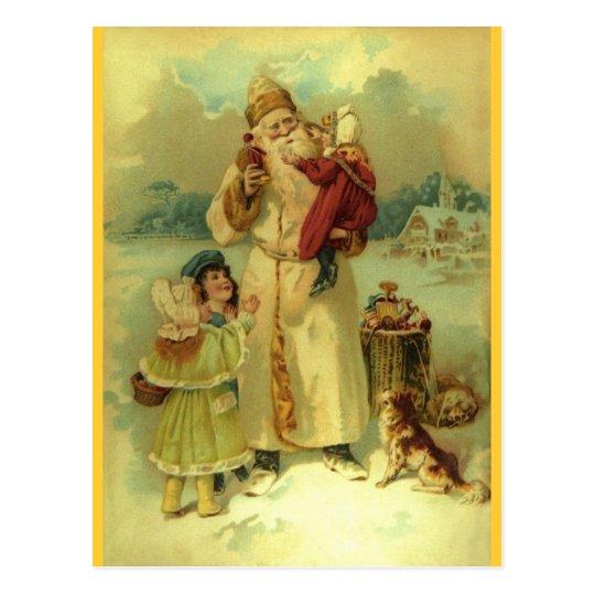 Santa 1897 vintage St. Nick Postcard