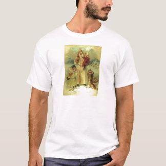Santa 1897 Vintage Victorian Christmas Saint Nick T-Shirt