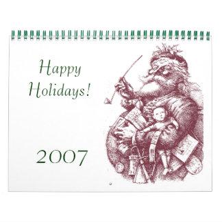 santa 1, Happy Holidays!, 2007 Calendar