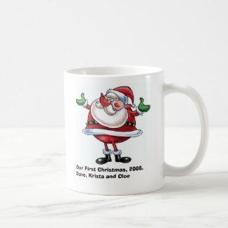 santa-2_cartoon, Our First Christmas, 2006.Dave... Coffee Mug