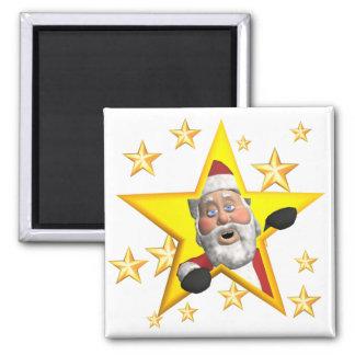 Santa 2 Inch Square Magnet