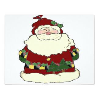 Santa 4.25x5.5 Paper Invitation Card