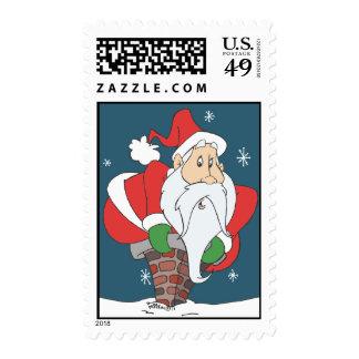 Santa abajo de la chimenea sello