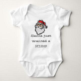 ¡Santa acaba de querer un beso! Camisa divertida