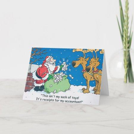 Christmas Accountant.Santa Accountant Repceits Christmas Cards 772589