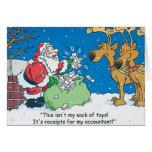 Santa Accountant Repceits Christmas Cards