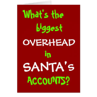 Santa Accounts - New Christmas Joke Card