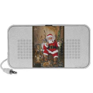Santa After Christmas Eve iPod Speakers