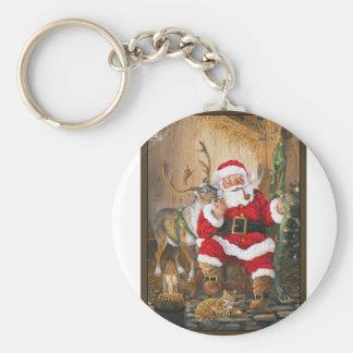 Santa After Christmas Eve Keychain