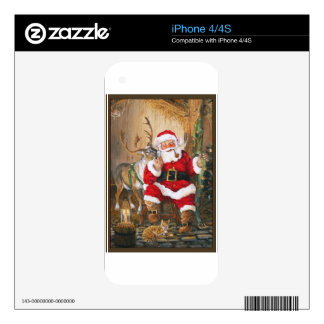 Santa After Christmas Eve Skin For The iPhone 4S