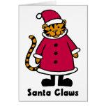 Santa agarra el tigre felicitación