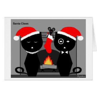 Santa agarra la tarjeta