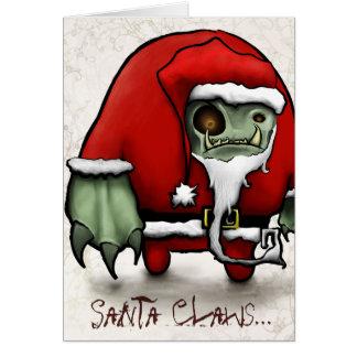 Santa agarra… tarjeta de felicitación