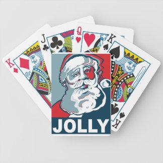Santa alegre cartas de juego