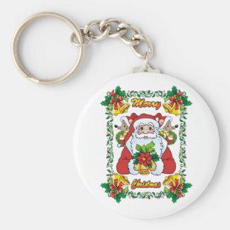 Santa alegre llavero redondo tipo pin
