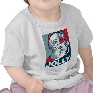Santa alegre camisetas