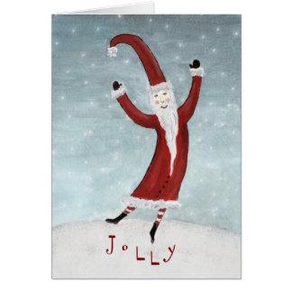 Santa alegre tarjeta de felicitación