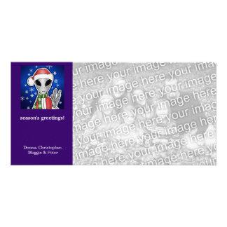 Santa Alien Christmas Holiday Card