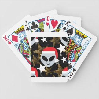 santa alien emoji bicycle playing cards
